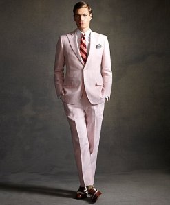Brooks Brothers Pink Suit
