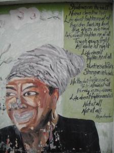 Maya Angelou Graffitti